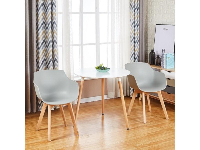 Lot de 2 chaise salle à manger fauteuils scandinave de
