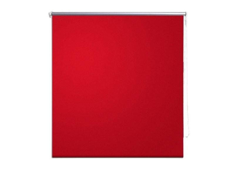 Store Enrouleur Rouge Occultant 80 X 230 Cm Fenêtre Rideau Pare Vue