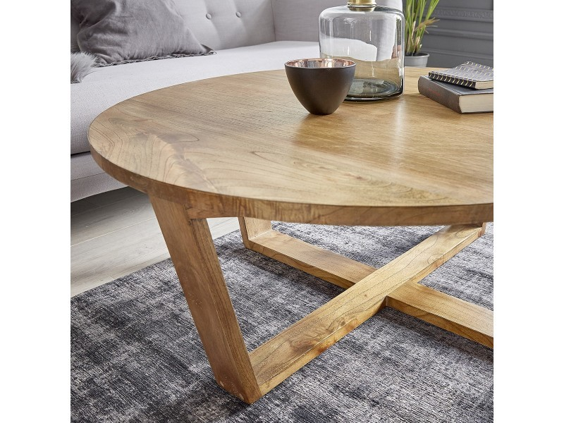 Table Basse Ronde En Bois De Mindy Vente De Table Basse Conforama
