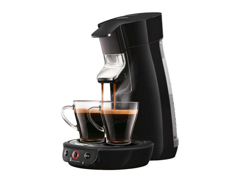 Philips cafetière à dosettes viva café noir 1450w hd6563/63