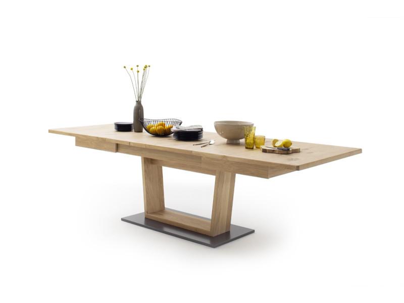 Table rectangulaire en chêne noueux - l180-280 x h77 x p100 cm -pegane-