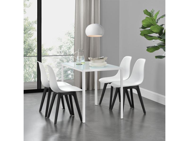 Ensemble table et 4 chaises table de salle - Conforama chaises salle a manger ...