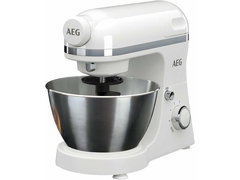 Aeg km3200 robot mixer rotatif 4,1l 800w blanc