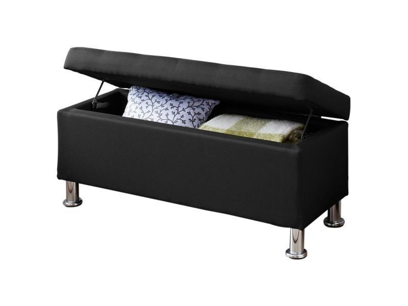 Banc de lit nizza coffre de rangement avec assise pouf ...