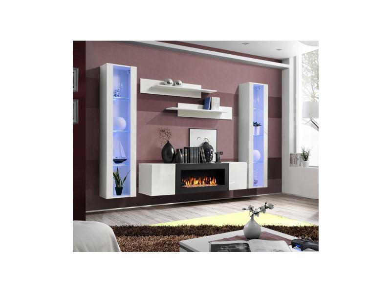 Ensemble verticales 1 m meuble 2 mural vitrines tv fly n0vONwm8