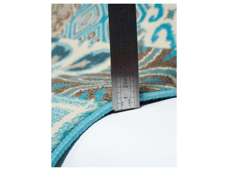 Tapis moderne carreaux de ciment bc faian bleu, marron ...