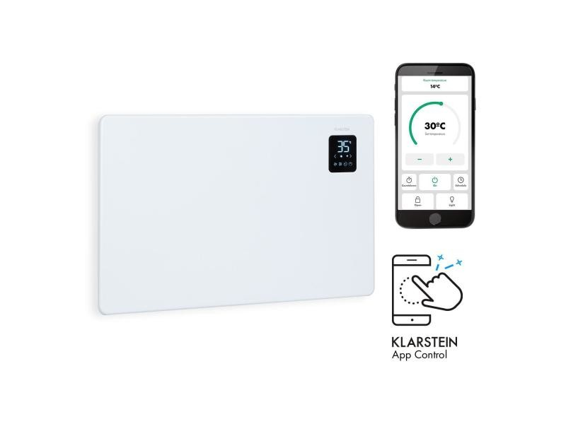 Klarstein bansin smart 1500 - radiateur à convection connecté 1500w , pour 30 m² , thermostat, contrôle par application - blanc