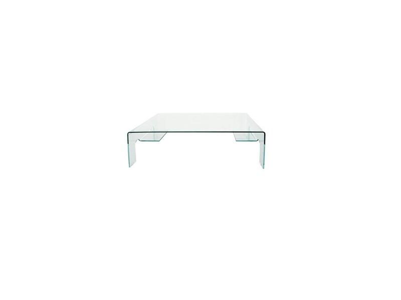 Table basse en verre transparent - l:125 l:74 h:42,5 - baakal and ross