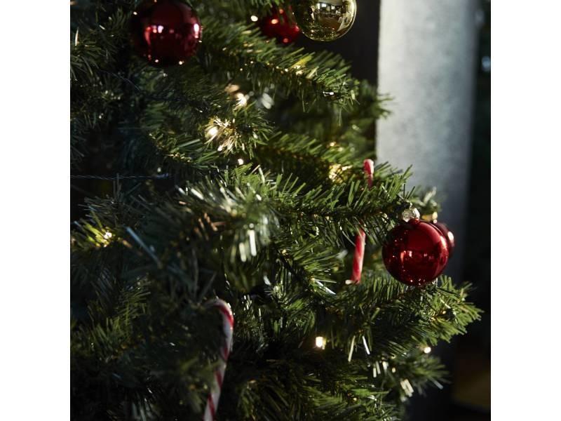 Sapin De Noël Artificiel De 180 Cm Avec Guirlande Lumineuse