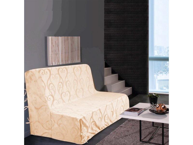 Housse de canapé bz amour - beige - dimensions : 140x190cm ...