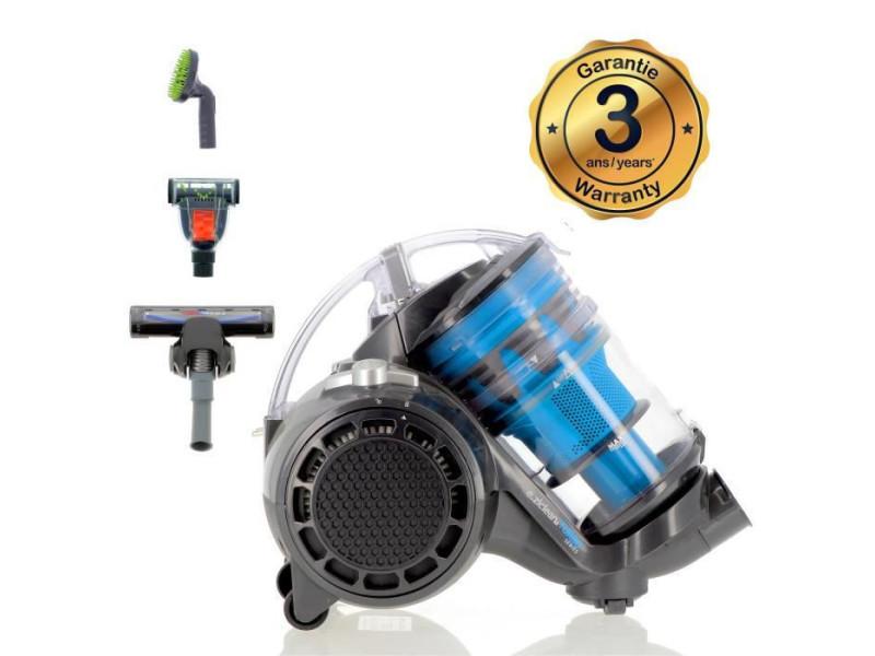 Eziclean turbo multifloors, aspirateur sans sac multi-cyclonique suréquipé aaa