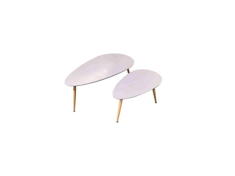 Fly lot de 2 tables basses gris 411929