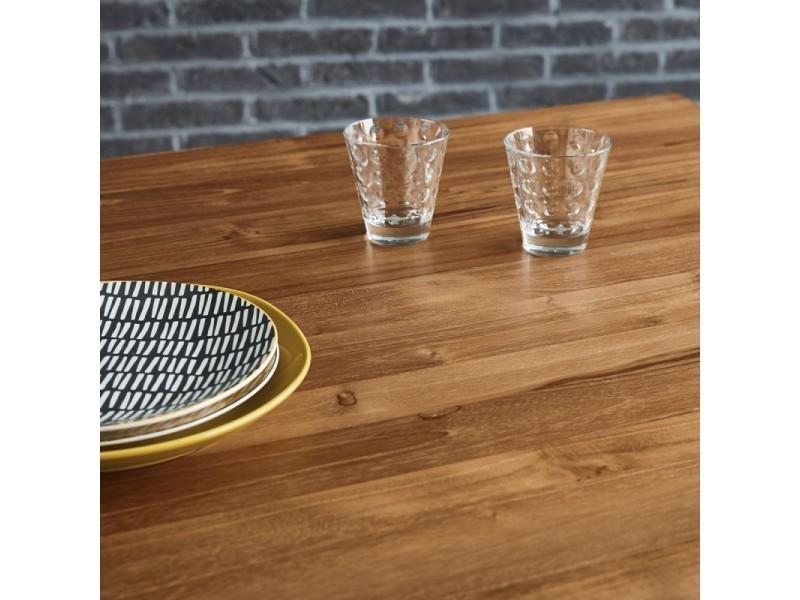 couverts 8 métal manger bois et à en Table teck de Vente l1cFJuTK3