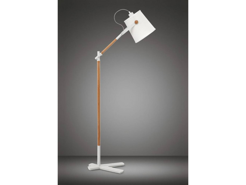 Avec Blanc Nordica 1 Ampoule Abat Jour Lampadaire E27Mat CrhdtsQx