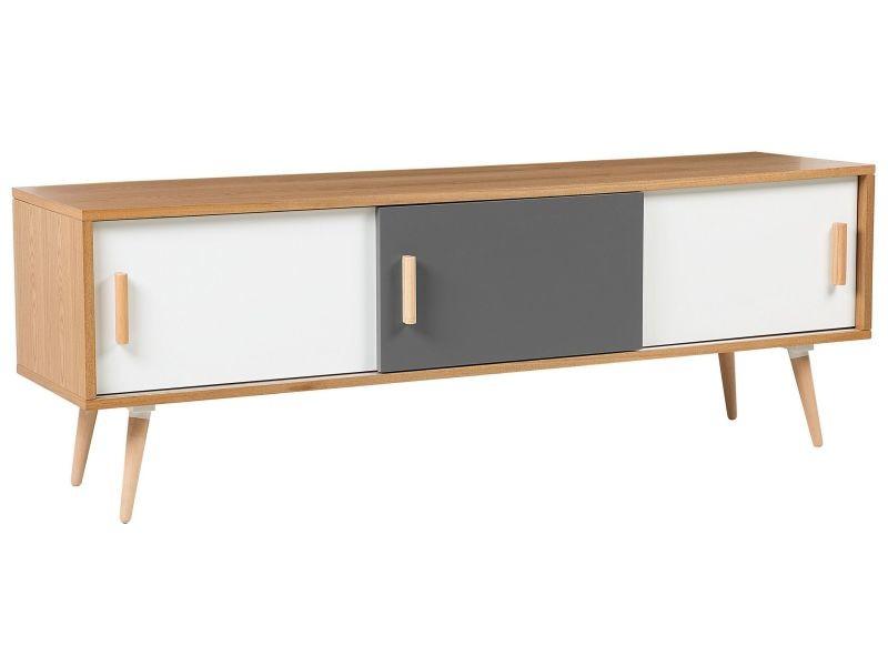 Meuble tv en bois clair indiana 147569