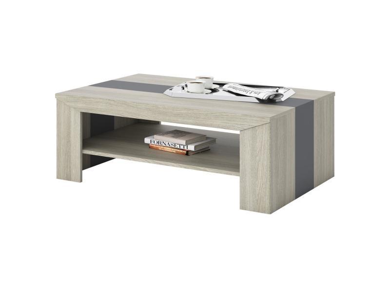 Avec Espace Salon Étagère Basse LyonDe Rectangulaire 1 Table EDH9Y2WI