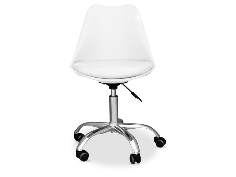 tulip Vente de bureau Chaise roulettes à pivotante blanc lFcJ13KT