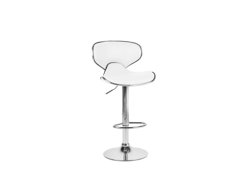 Chaise de bar en simili-cuir blanc conway 154897