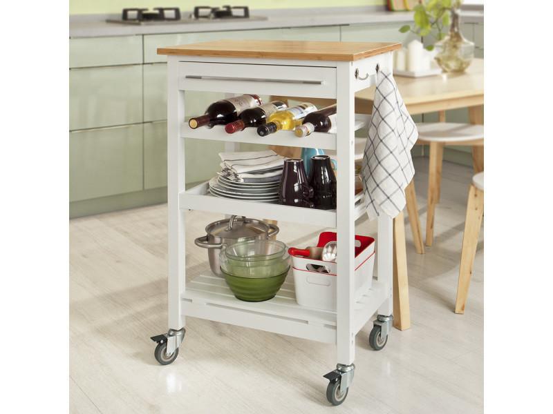 Table roulante meuble de rangement cuisine desserte à ...