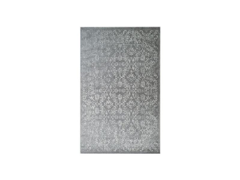 Tapis de salon oriental ciudad gris et creme 120x170cm ...
