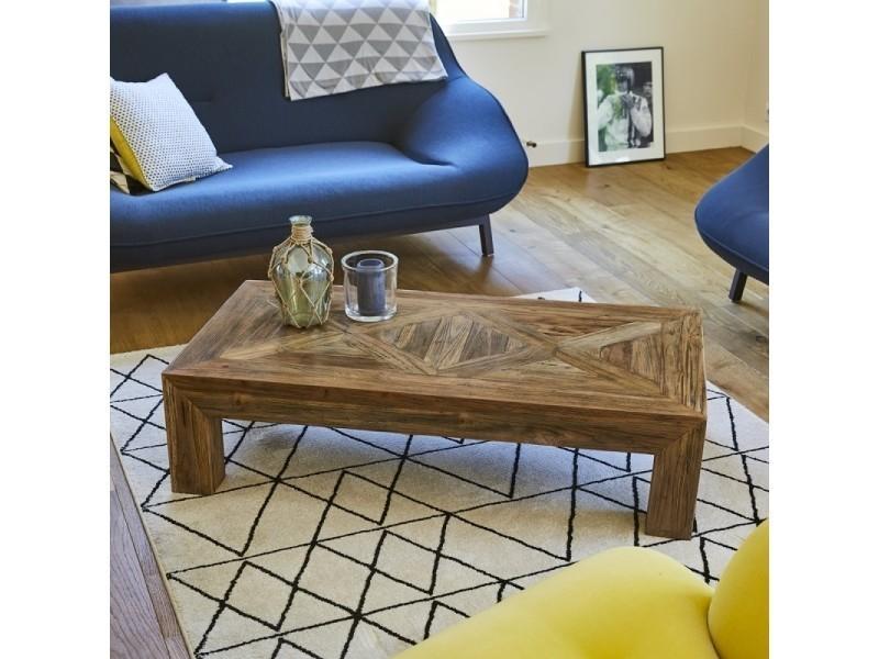 Table basse en bois de teck recyclé 120