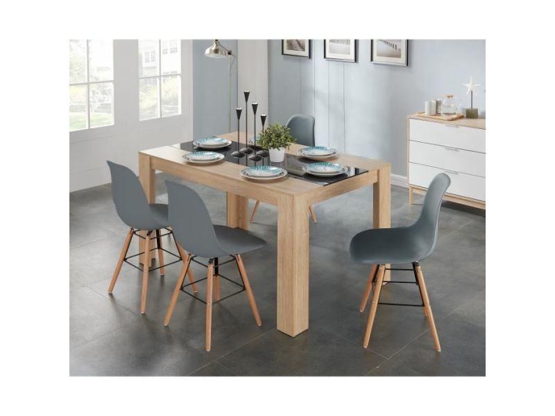 chaise salle a manger scandinave bois