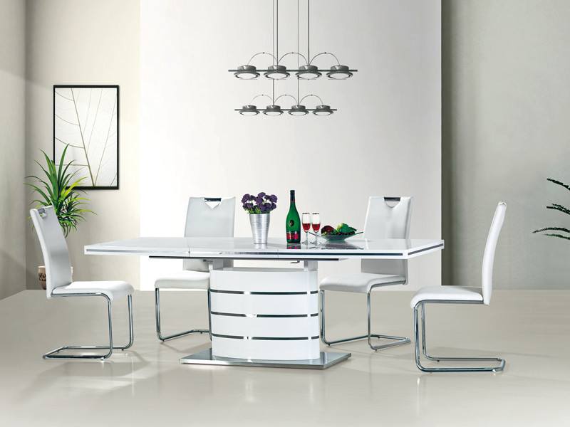 Table à manger rectangulaire extensible 140 ÷ 200 cm x 90 cm x 77 cm