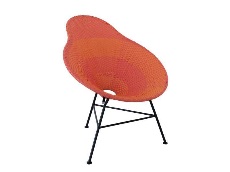 Chaise poire plastique rouge et orange - filippa - l 78 x l 71 x h 87 ...