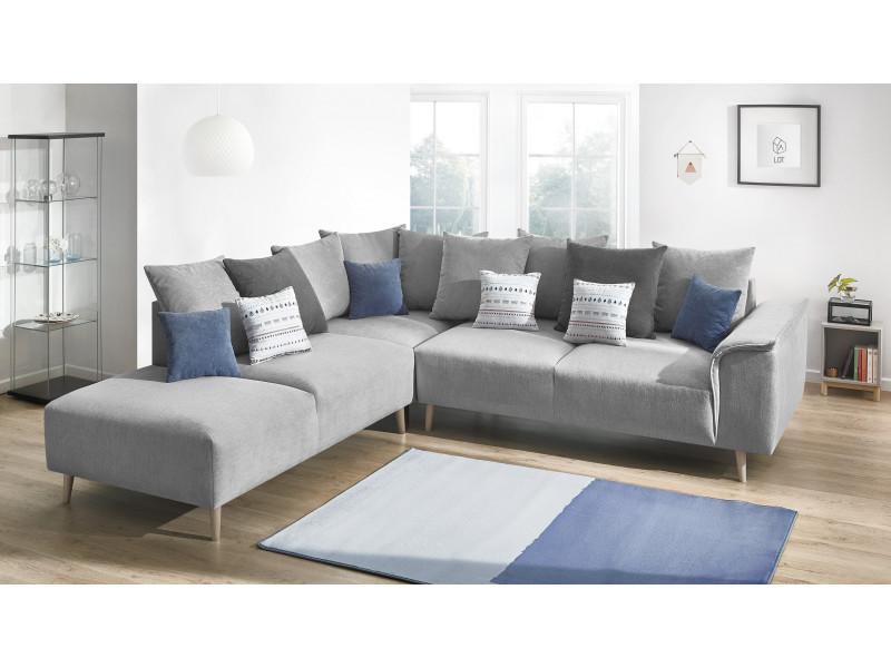 Canape d'angle london gauche gris clair
