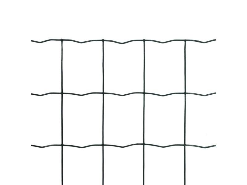 Icaverne - panneaux de clôture categorie grillage 25 x 1,0 m avec mailles 76 x 63 mm
