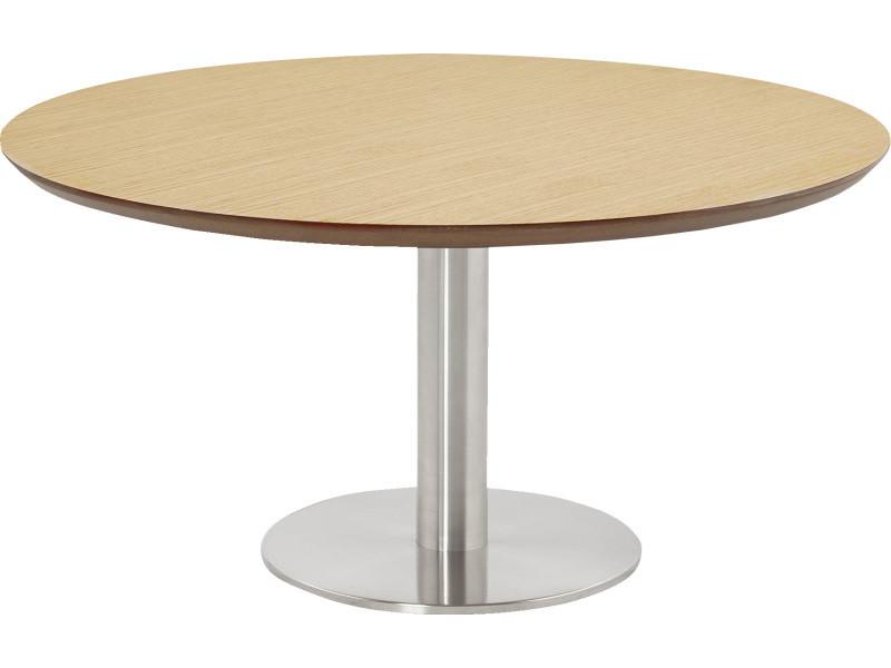 Table basse ronde naturelle - 90 x 180 x 75 cm -pegane-