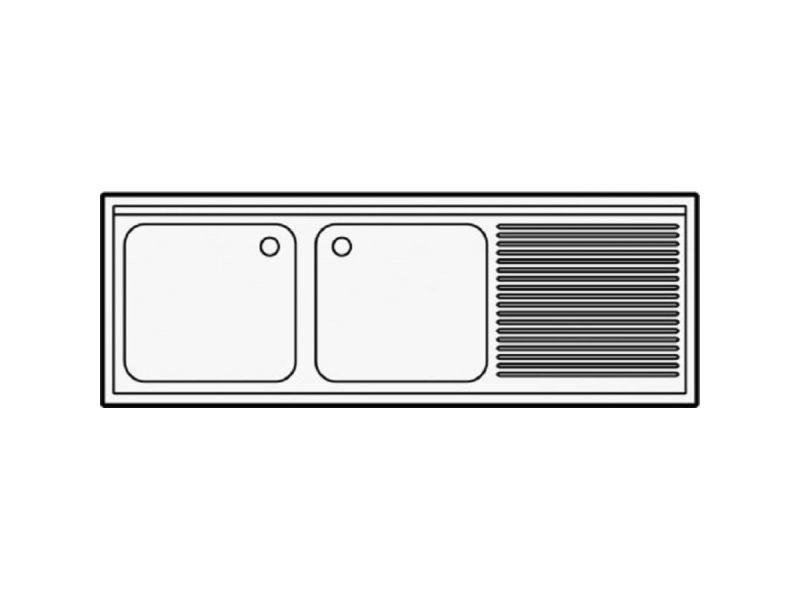 inox démontable profondeur avec Plonge etagère 600 Tc3lFK1Ju