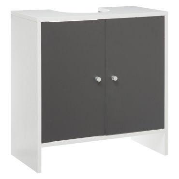 Meuble sous vasque de salle de bain agglo essenzo blanc - Meuble vasque salle de bain conforama ...