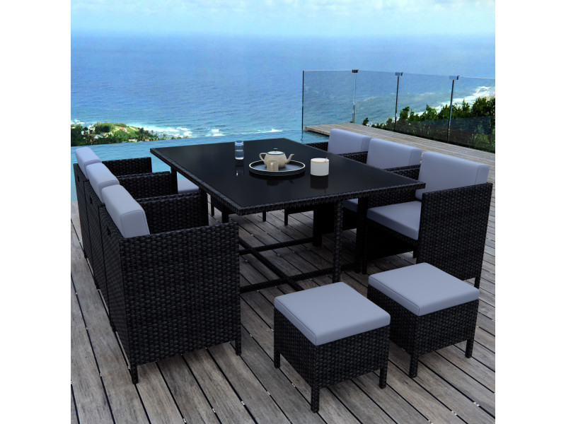 Munga 10 Places Ensemble Encastrable Salon Table De Jardin