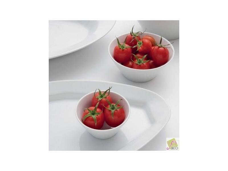 D 24 cm Napoli Lot de 6 assiettes /à risotto en porcelaine blanche
