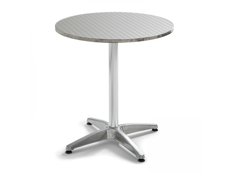 Table de jardin ronde en aluminium et 4 fauteuils - Vente de ...