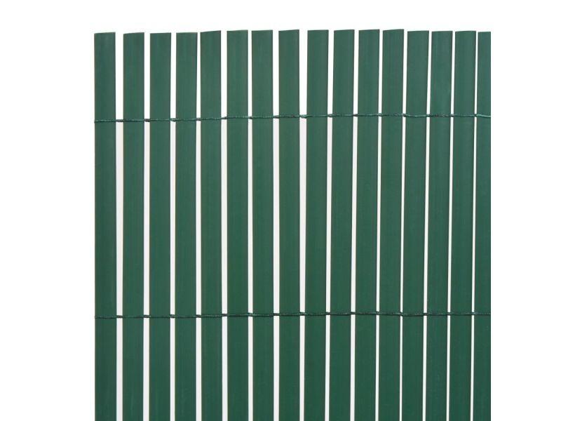 Vidaxl clôture de jardin double face 150 x 300 cm vert 43633 - Vente ...