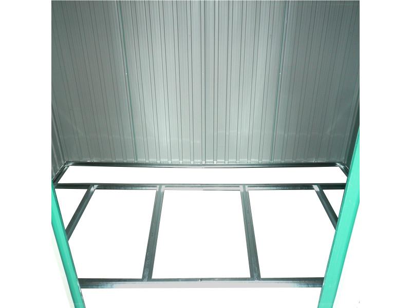 Abri de jardin en métal - cadre en zinc - vert - 2,5 x 2 ...