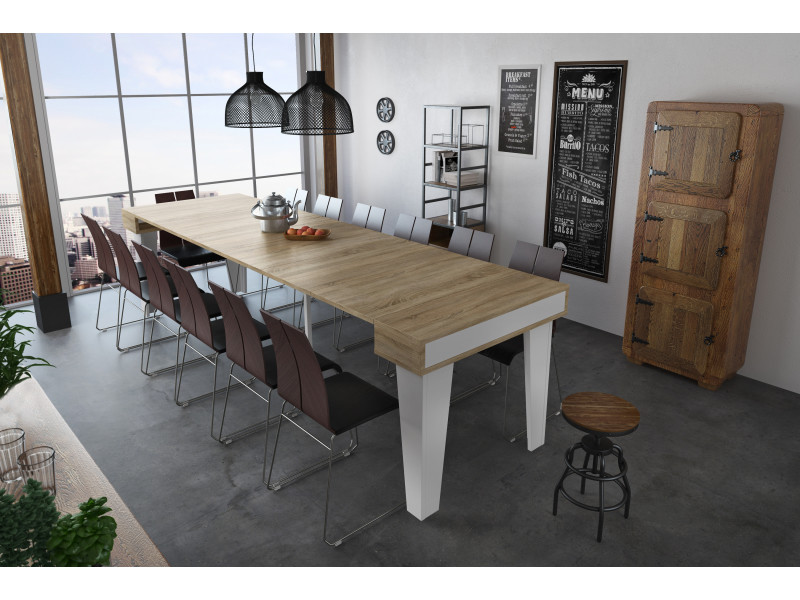 Home innovation - table console extensible rectangulaire avec ...