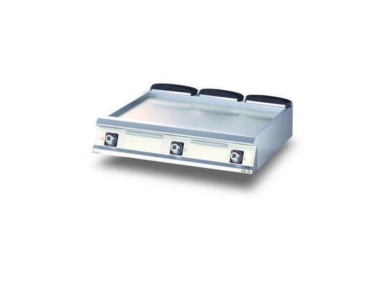 Plancha electrique lisse aisi 430 diamante 90 - 400 à 1200 mm - olis - acier 1200 mm 900