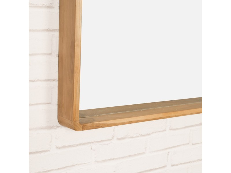 Miroir salle de bain en teck samba 140 x 65 cm 16081 - Vente de ...
