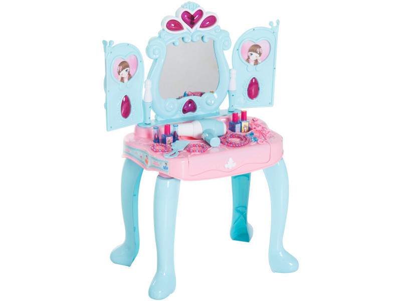 Coiffeuse enfant piano 2 en 1 multi-equipement : miroir ...