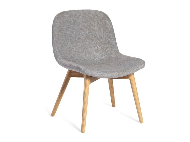 Chaise basse tissu ardoise - negan - l 54 x l 60 x h 77 - neuf ...