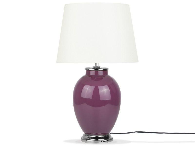 Lampe Beliani De Chevet Conforama Brenta Vente 79665 Violette kwPnO0