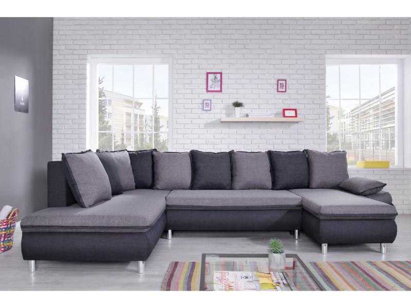 Canapé nesty panoramique gris clair/ gris anthracite 71515276710