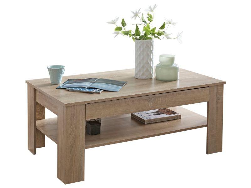 Table Basse Avec Tiroir De Rangement.Table Basse Contemporain 110x48x65 Cm Avec 1 Tiroir Et Niche