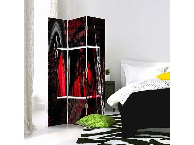 Paravent 3 Volets Lintérieur Abstraction Rouge 360 Par3cz