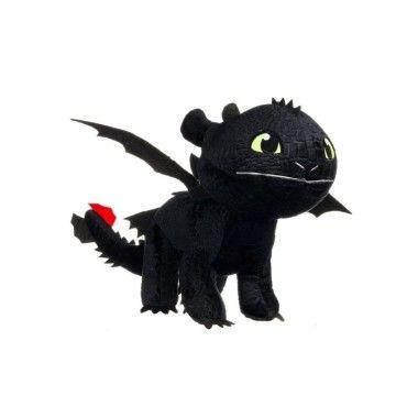 Peluche Krokmou 22//35 cm Dragon 3 noir
