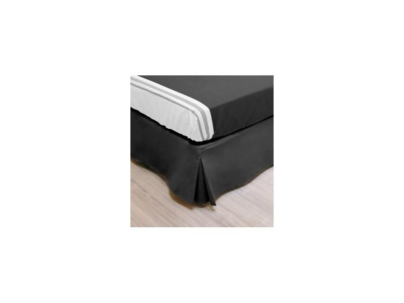 Linge De Lit Conforama.Cache Sommier Noir Decoration Sommier 160 X 200 Cm Linge