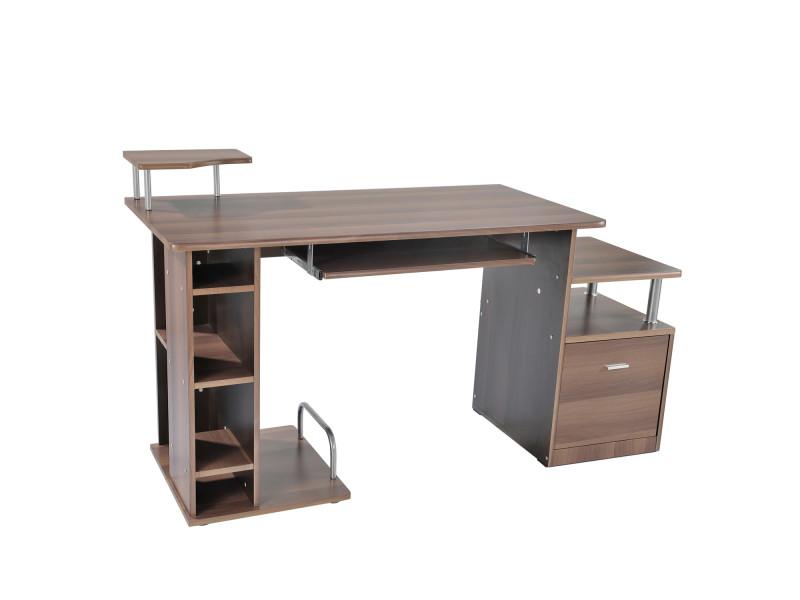 Bureau pour ordinateur table meuble pc informatique multimedia en